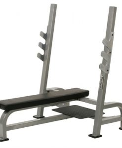 York STS Olympic Flat Bench Press with Gun Racks