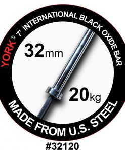 York 7ft International Black Oxide Bar 32mm