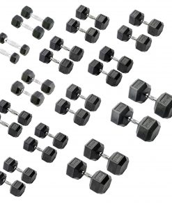 York Hex Rubber Dumbbells
