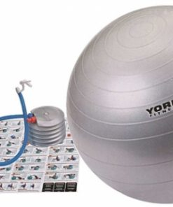 York 65cm Antiburst Gym Ball with DVD