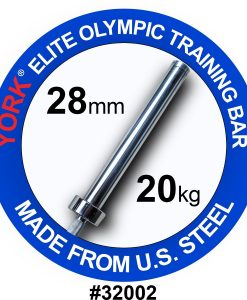 York Men's 7ft Elite Olympic Training Bar (28mm)