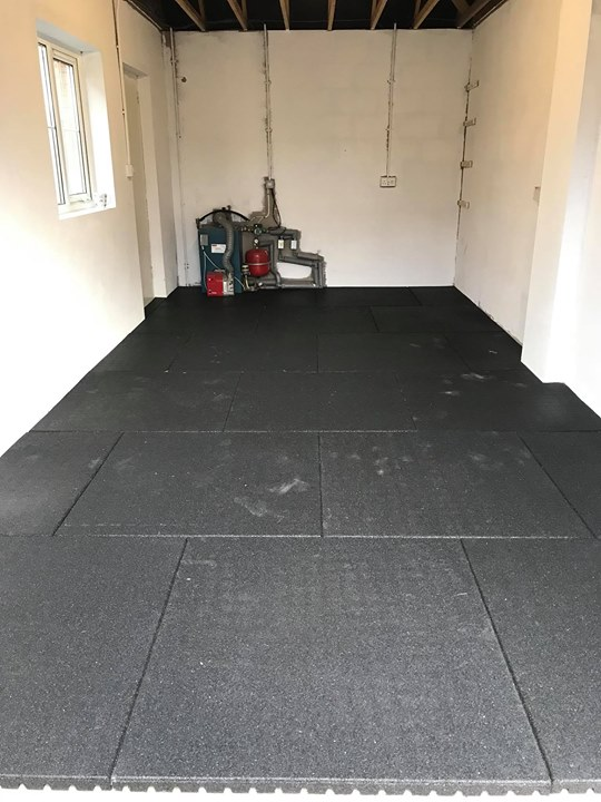 Mm rubber flooring install for a customer in antrim in his