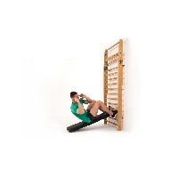 Classic exercises with a workout bench - whether used for sit-ups or free-weight training: simply hang into the rung of your choice