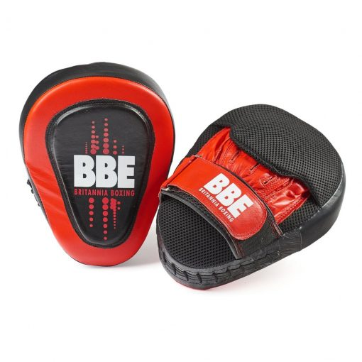 BBE CLUB Gel Cushioned Leather Curved Hook & Jab Boxing Pads