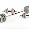 York 50KG Vinyl Spinlock Dumbbell & Barbell Set