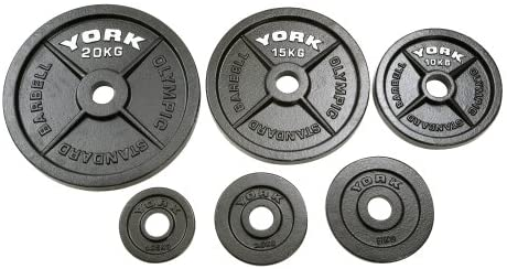 "York Olympic 2"" Cast Iron Weight Plates"