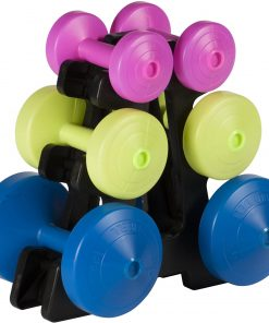 York Vinyl 15KG Dumbbell Set with Storage Rack